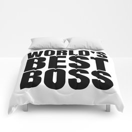 WORLD'S BEST BOSS Comforters