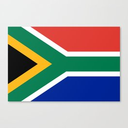 Flag of South Africa, Authentic color & scale Canvas Print