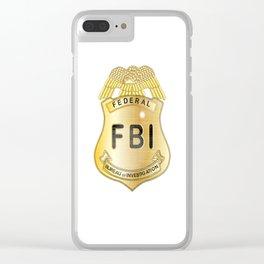 FBI Badge Clear iPhone Case
