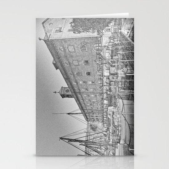 St Katherine's Dock London sketch Stationery Cards