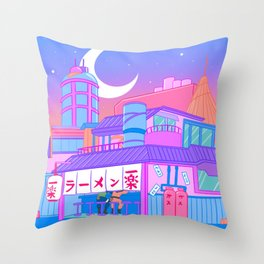 Ramen with Sensei Throw Pillow