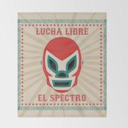 El Spectro - Lucha Libre Throw Blanket