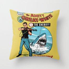 The Amity Great White Throw Pillow