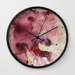 Garnet Color Splash Wall Clock