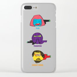"Cartoonish heroes ""Rogue one"" Clear iPhone Case"