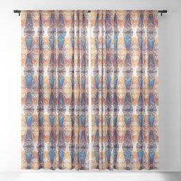 Autumn Geometric Multi Sheer Curtain