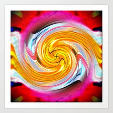 Crazy Carl's Swirl 1 Art Print