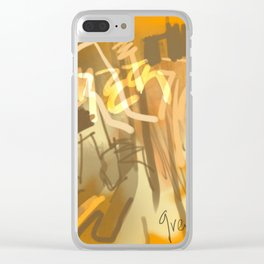 Yellow abstract Punjab Clear iPhone Case