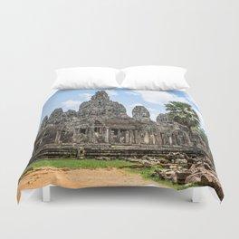 Bayon Temple, Angkor Thom, Cambodia Duvet Cover