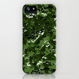 Leaf Green Popular Multi Camo Pattern iPhone Case