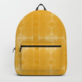 Retro Yellow Imperfect Circles - Modern Geometric Pattern Backpack