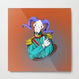 General Goat Likes This Metal Print