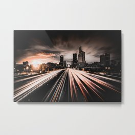 LIGHTS IN THE CITY Metal Print
