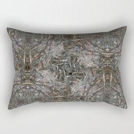 Feathers and bones -Desert sand Rectangular Pillow