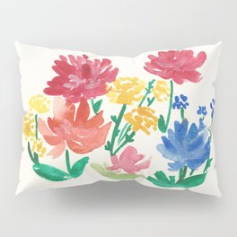 Watercolor flower bed Pillow Sham