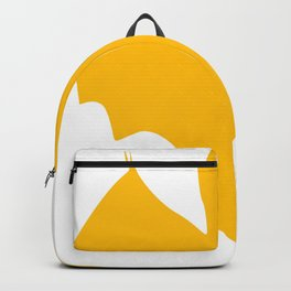 Orange-Yellow Silhouette Of a Bat  Backpack