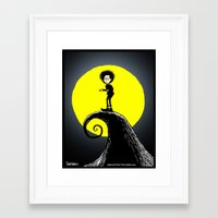 tim burton Framed Art Prints featuring Tim Burton by David Hurley