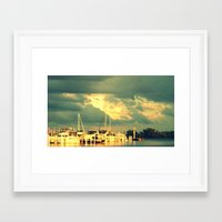 sail Framed Art Prints featuring Lets Go For a Boat Ride by 2sweet4words Designs