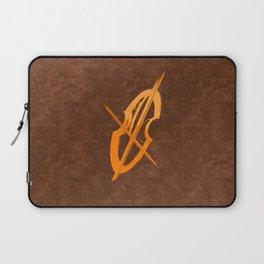 Cello Music Theme Terracota Copper Laptop Sleeve