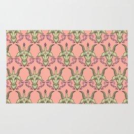 Pink Baphomet Damask Rug