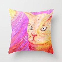 Aristocrat Cat  Throw Pillow