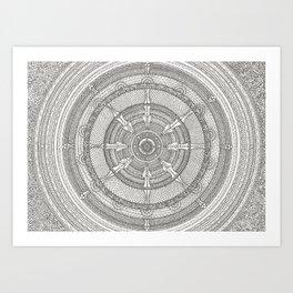 Mandala: Auspicious Ink Art Print