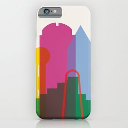 Shapes of Dallas. Accurate to scale. iPhone Case