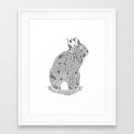 King Bun Framed Art Print