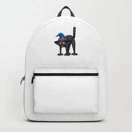 Witch Cat, Current Mood Funny Halloween Horror Scary Backpack
