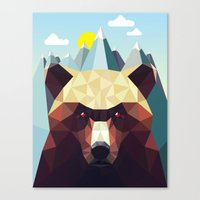 mountain Canvas Prints featuring Bear Mountain  by Davies Babies