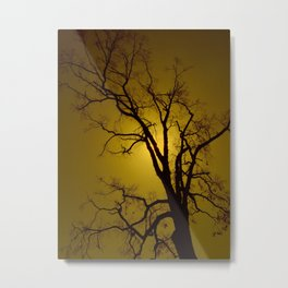 Mustard Sky Metal Print