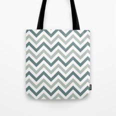 Classic Chevron in Shades of Gray Tote Bag