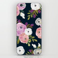 Midnight Florals - Pink & Purple iPhone & iPod Skin