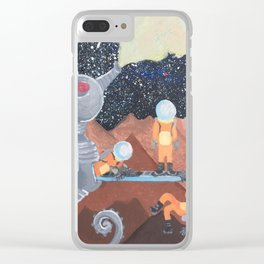 Fathership Clear iPhone Case