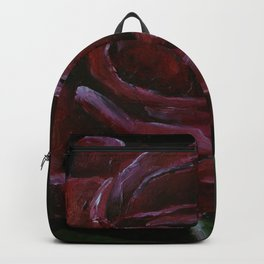 Flower, red rose, gothic beauti Backpack