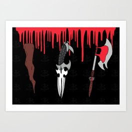 The Slayer Weapons Art Print