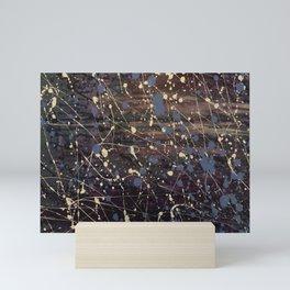 Splatter Painting Abstract, Blue, Purple, Pollack, Jodilynpaintings, Splatter Mini Art Print