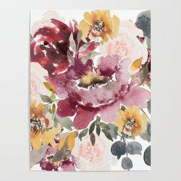 Large floral autumn Poster