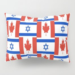 Mix of flag: canada and israel Pillow Sham