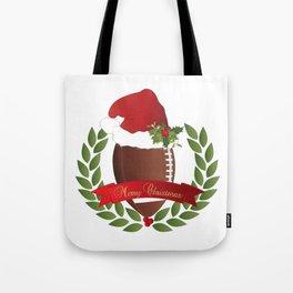 Football Christmas Design Tote Bag