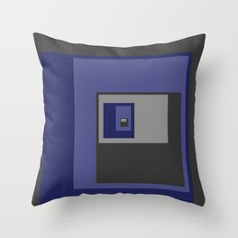 Blue Squares Throw Pillow