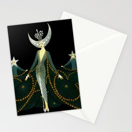 """Art Deco Design """"Queen of the Night"""" Stationery Cards"""