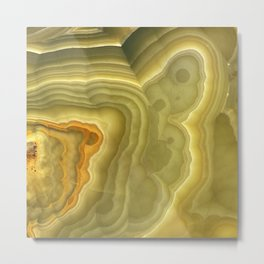 Green marble pattern Metal Print