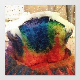 Tie Dye Cupcake Canvas Print