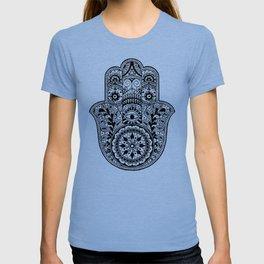 Black and White Hamsa Hand T-shirt