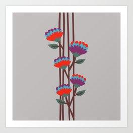 Émile Flowers Art Print