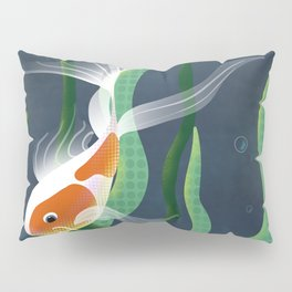Koi and Plants // Fish In Water Pillow Sham