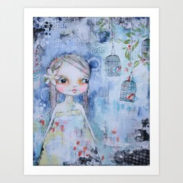 Bluer Than Blue Art Print
