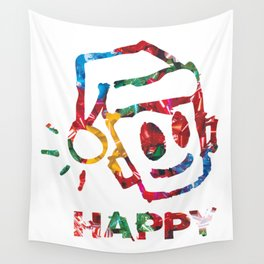 HAPPY CHRISTMAS Wall Tapestry