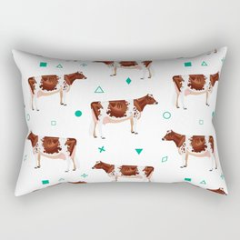 Ayrshires White & Mint Rectangular Pillow